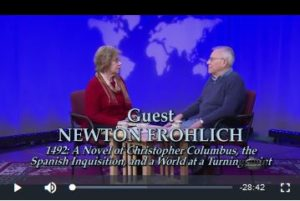 "Newton Frohlich interview on ""Books and the World"" TV show"